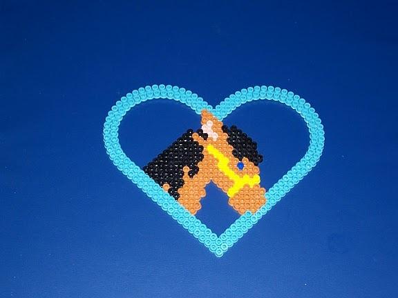 Horse Heart hama beads - DOMINELLE DECOUPAGE - Picasa-Webalben