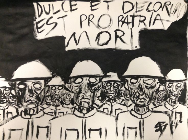 "et decorum est coursework In wilfred owen's poem ""dulce et decorum est"" the speaker's argument against  whether there is true honor in dieing for ones country in world war i contradicts."
