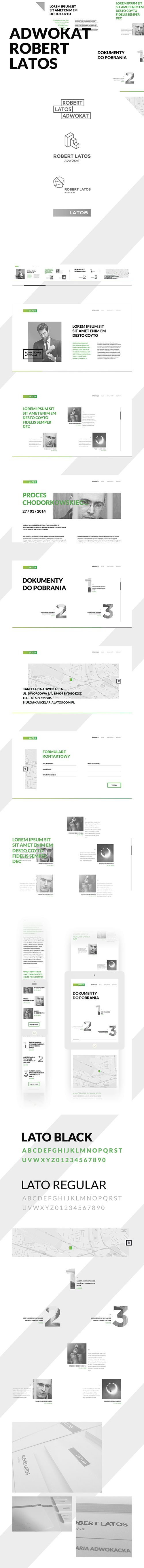 Website and branding for lawyer.