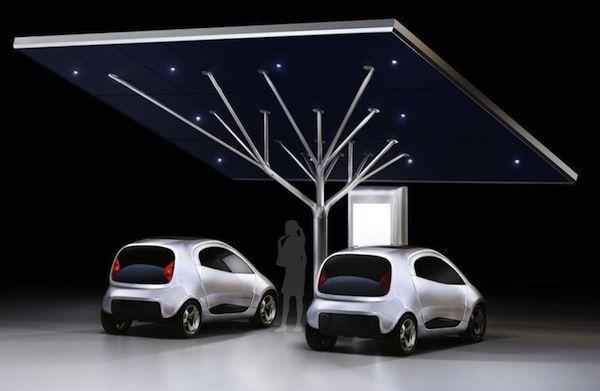 Pininfarina's stunning tree-shaped Antares EV charging station should be more than a prototype -- Engadget