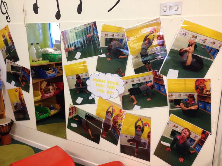 Modular Classroom Yoga : Yoga poses for the children to copy eyfs physical