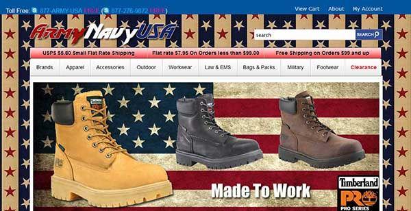 Army Navy USA — популярный магазин качественной военной одежды, экипировки и обуви от известных американских производителей. Здесь представлен широкий ассортимент курток, маек, штанов, брюк и аксессуаров для военных. Если же Вы хотите разнообразить свой повседневный стиль или собираетесь в поход, то этот магазин точно для Вас. На сайте вы найдете множество интересных и нужных товаров: легендарные американские куртки в стиле «пилот» (коттоновые, нейлоновые, меховые), куртки Millitary, летние…
