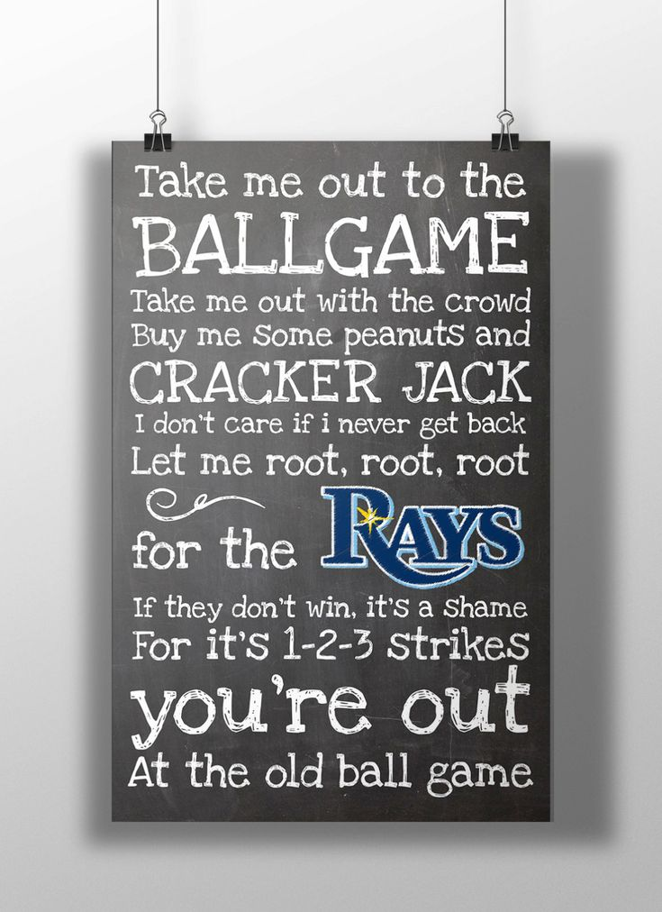 Tampa Bay Rays Take Me Out to the Ballgame by BigLeaguePrints, $12.00. Except for the BRAVES!