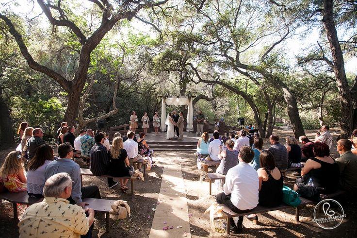 Southern California Wedding Venue Oak Canyon Nature Center Wedding Ceremony In Orange County