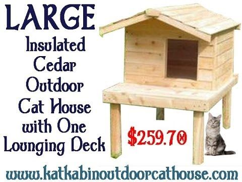Large Insulated Cedar Outdoor Cat House with One Lounging Deck - #largeinsulatedcedaroutdoorcathousewithoneloungingdeck #insulatedoutdoorcatshelters #outdoorcatenclosures #feralcathouse #outdoorcathouseplans #outdoorcathouseforwinter #outdoorheatedcathouse #outsidecatshelters #outdoorcathouses #outdoorcatsheltersforsale #outdoorcatsheltersandfeedingstations #outsidecathouse #outsidecatenclosures #insulatedoutdoorcathouse