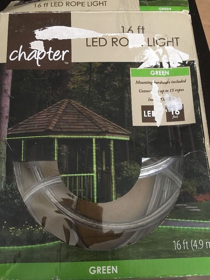 Chapter 16 ft Green 360 Degree LED Flex Rope Lights - Lawn Outdoor Christmas #Chapter
