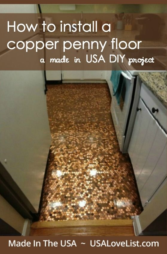 Penny floor DIY |How to install a copper penny floor using epoxy | Step by step tips