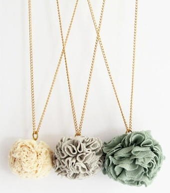 fabric flower necklaces