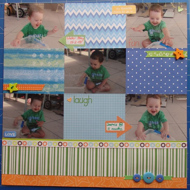 Scrapbook page by Laura: Jarvis @ 11 months