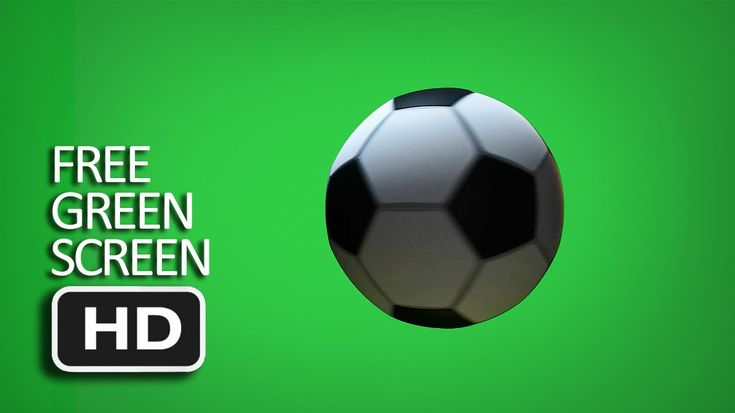 Free Green Screen - Spining Football