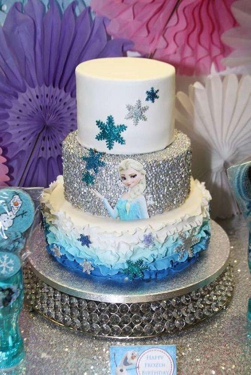 21 Disney Frozen Birthday Cake Ideas and Images - My Happy ...