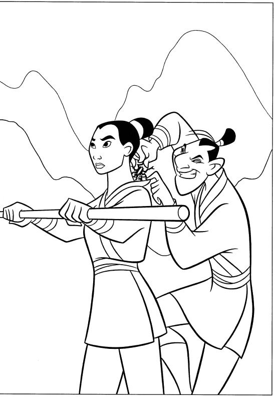 28 best Mulan Coloring Pages images