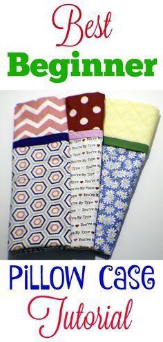 Beginner sewing project. Best Beginner pillow case tutorial. #beginnersewingproj…