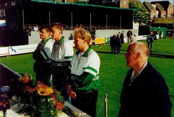 Frjentsjer - NK senioren 2000 → Freddie Beimers, Klaas Berkepas, Johan Binnema en Douwe Beimers.