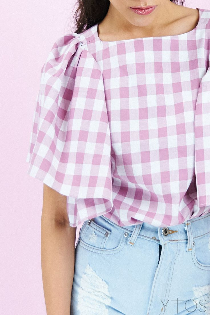 Yfos Online Shop | Clothes | Tops | Petit Checked Top by Karavan