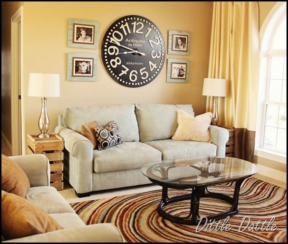 Office loft wall large clock and prints or tin tiles - Best 20+ Living Room Wall Clocks Ideas On Pinterest Large Wall