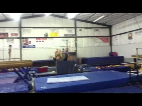 Double Full Dismount- Beam- Brittany Johnson 2012 - YouTube