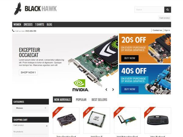 Black Hawk PrestaShop Theme