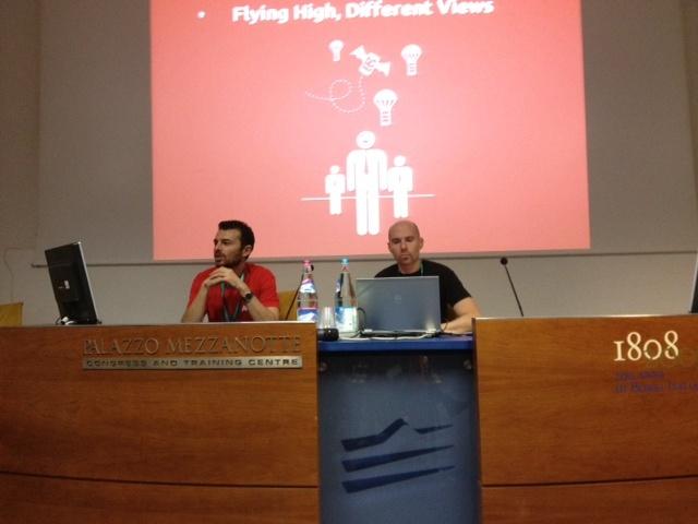 I relatori di DraculApp e Talent Circle sul palco del Forum delle Risorse Umane #forumhr