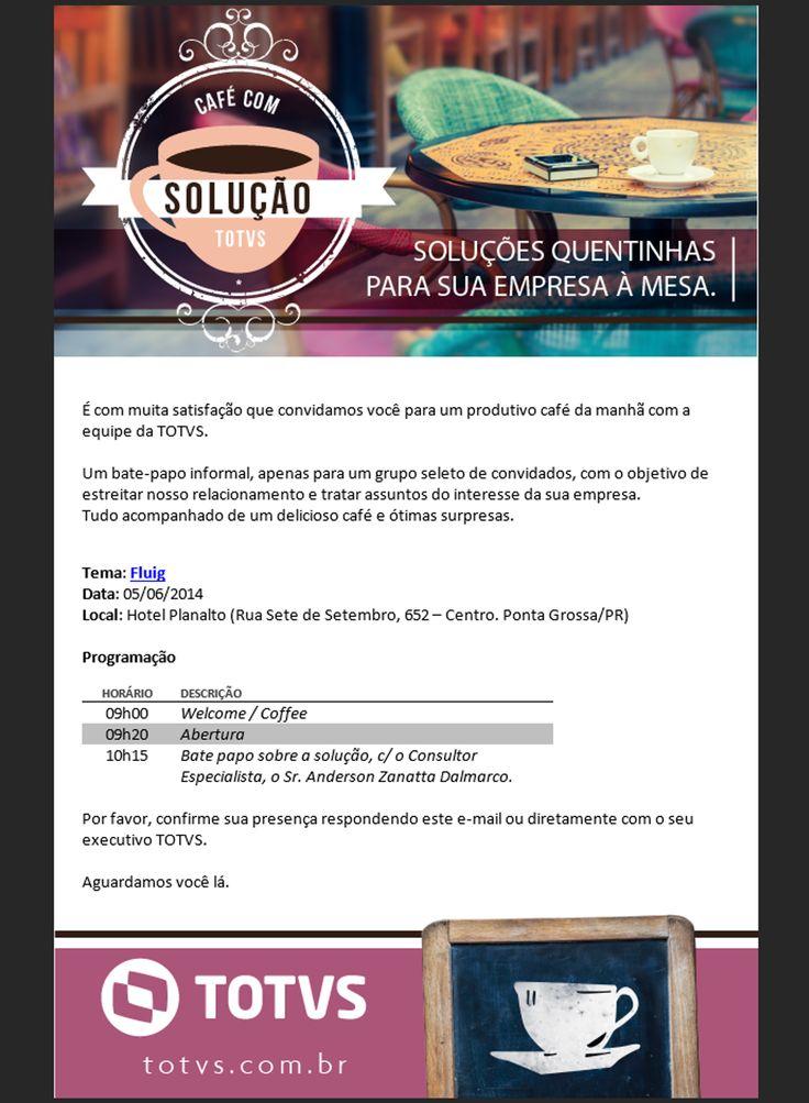 Convite para o evento