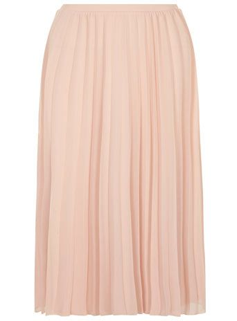 Blush Mesh Pleated Midi Skirt - So in love with this beautiful skirt from @Dorothy Todd Todd Perkins pair with lace to make it bang on trend. #sharethelove