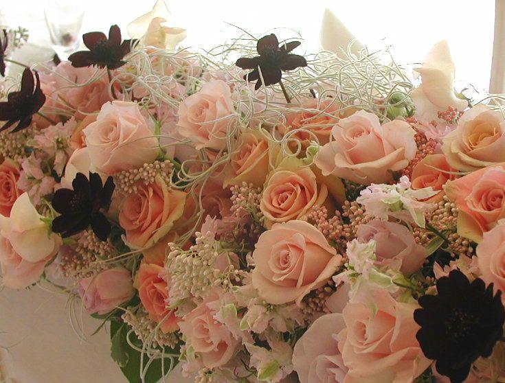 心が動く  : 一会 ウエディングの花