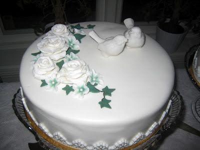 Nathalies Tårtor: Bröllopstårtor till Daniel och Linda
