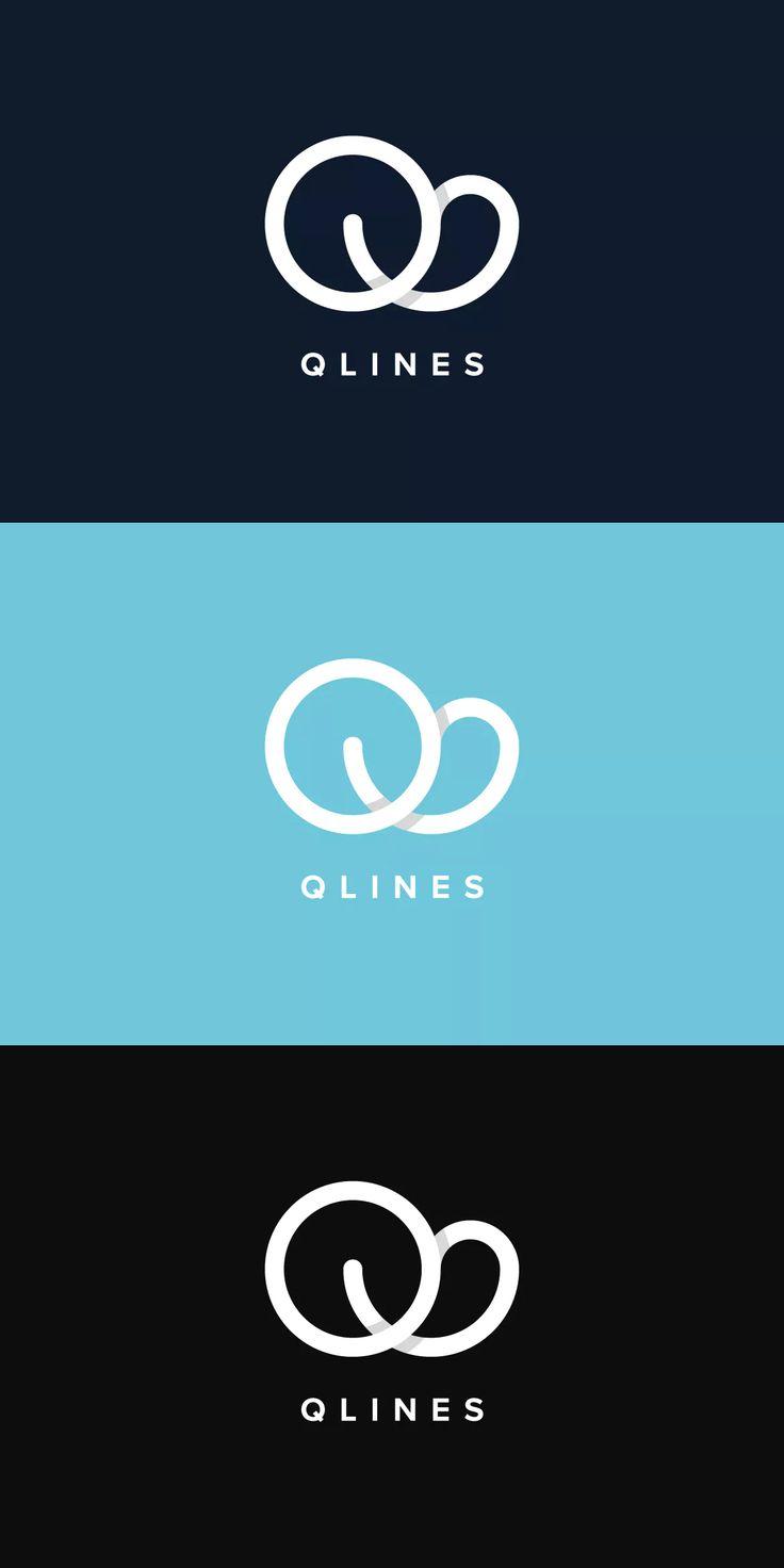 Q Lines Logo Template AI, EPS