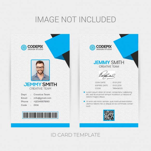 Office Id Card Template Id Card Template Business Cards Creative Identity Card Design