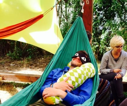 hammock pillow and cat mask @ electric castle festival 2014