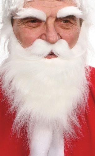 Barba, bigode e sobrancelhas brancas