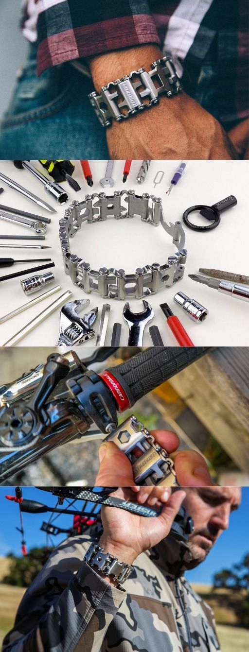 Leatherman - Tread Bracelet, The Travel Friendly Wearable Multi-Tool, Stainless Steel. The Leatherman Tread travels everywhere you do. Roll up your sleeve and get to it with the multi-tool that's always available for the job at hand.