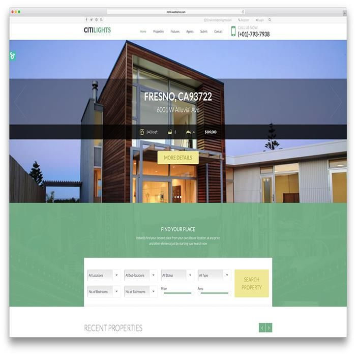 website templates real estate