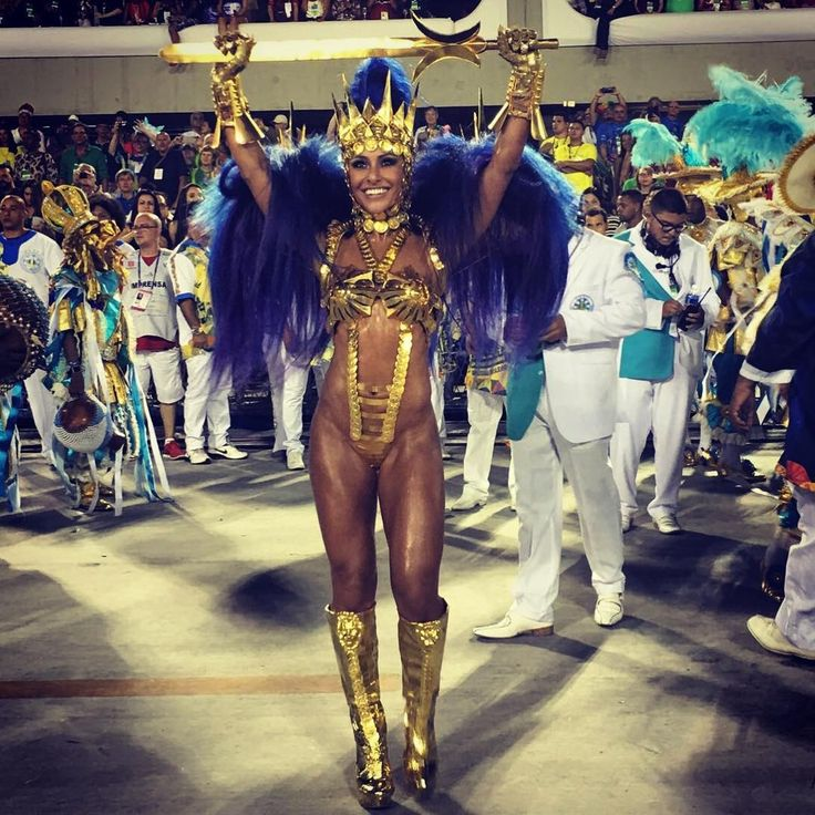 No desfile de 2016 da Vila Isabel, no Carnaval carioca (Foto: Reprodução/Instagram)