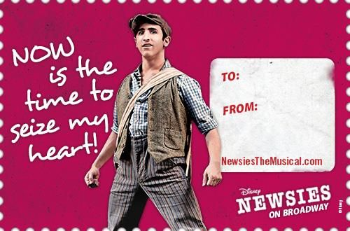 NEWSIES Spreads The Love With Shareable Printable Valentines – Valentine Musical Cards