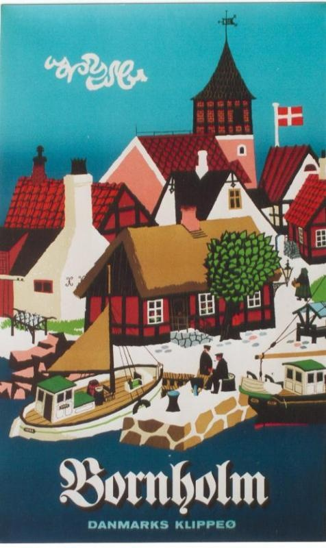 vintage poster - Bornholm, Erik Heibak from c.1960