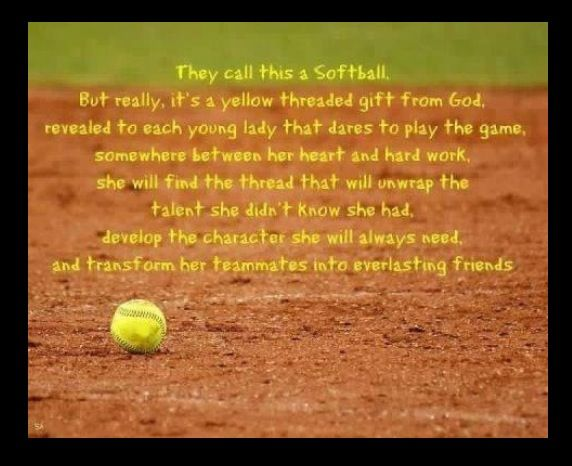 Cool softball quote