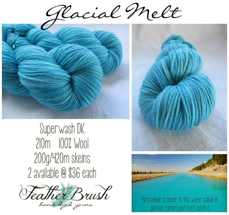 Beautiful clear glacial blue from Featherbrush yarns.