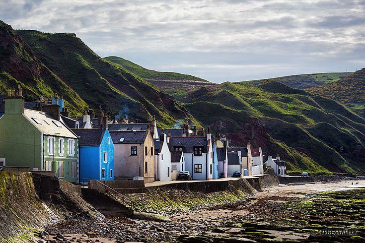 The coastal village of Gardenstown in Aberdeenshire, Scotland