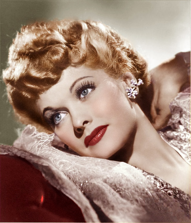 Lucille Ball- she was so funny that we forget how lovely she was! Nice to see her in color! One of my all time idols.