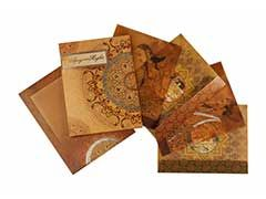 Royal Indian Wedding Card with Traditional Paintings... #Indian #wedding #cards