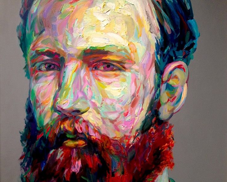 Aaron Smith's Latest Series of Colorful and Dapper Bearded Men