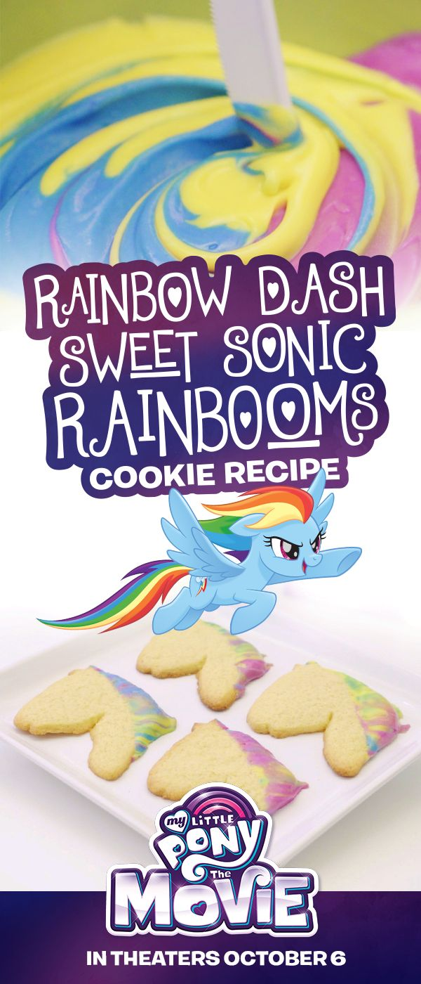 Throw the perfect pony party with these cookie dippers and rainbow frosting! My Little Pony: The Movie is in theaters on October 6.