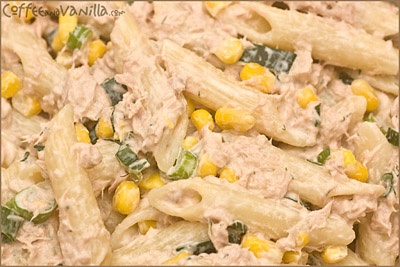 tuna-dill-corn-spread-n-pasta salad good one for salad luncheon