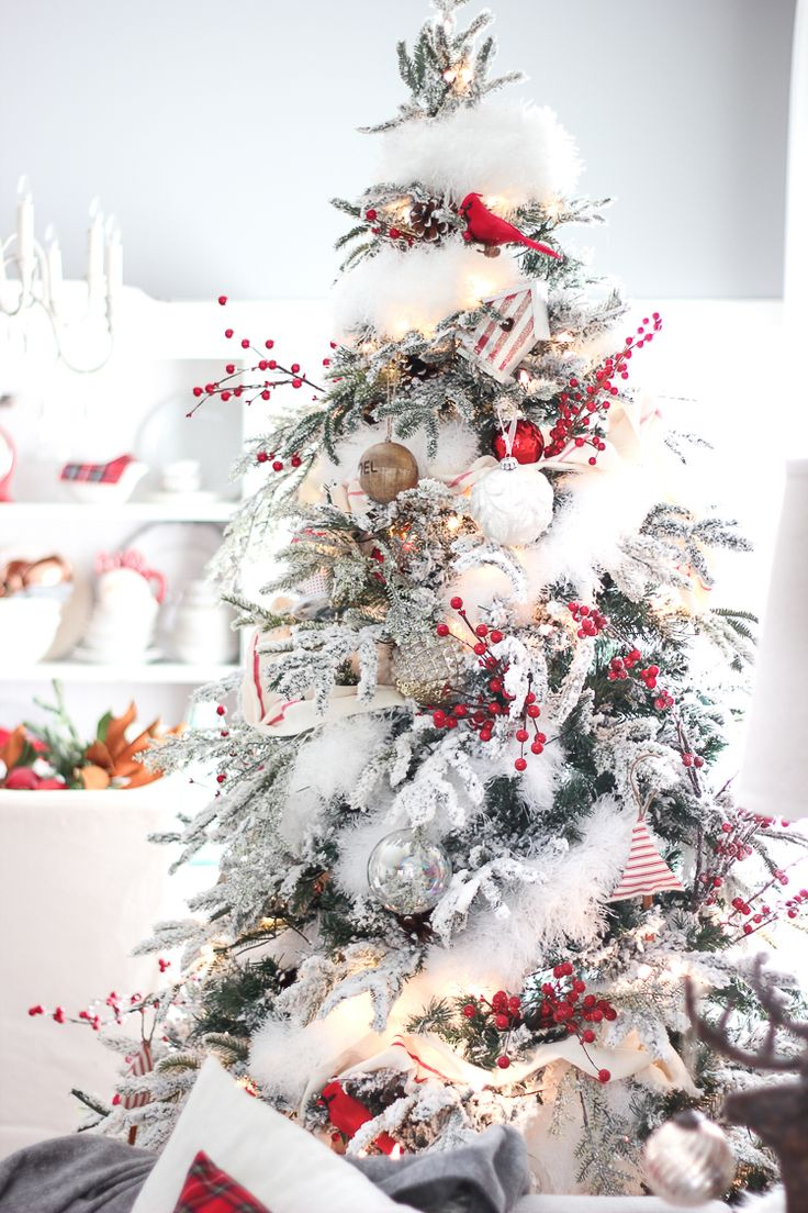 Red and white christmas tree decoration ideas - Best 20 White Christmas Tree Decorations Ideas On Pinterest White Christmas Decorations Christmas Tree And Christmas Tree Decorations
