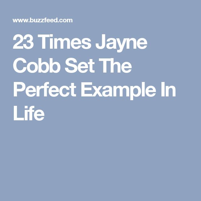 23 Times Jayne Cobb Set The Perfect Example In Life