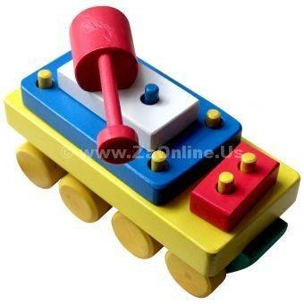 Jual Mainan Kayu Balok Tank | Pesan 085643605261