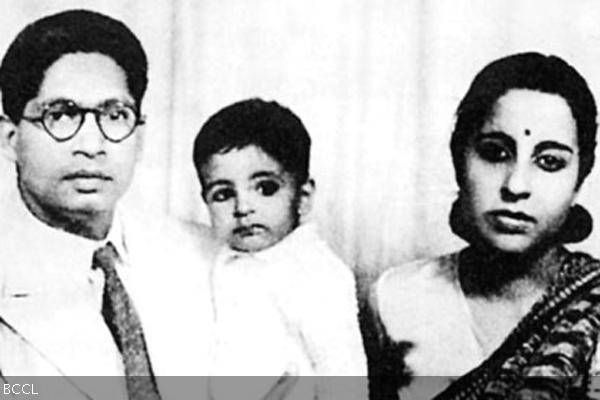 When Big B was a baby! A rare pic of little Amitabh Bachchan with his father Harivanshrai and mother Teji.