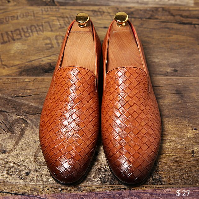 US $27 Luxury Brand Mens Businessmen Shoes Wedding Party Business Slippers Carved Oxfords Slip On Chaussures Homme Swagger Shoes