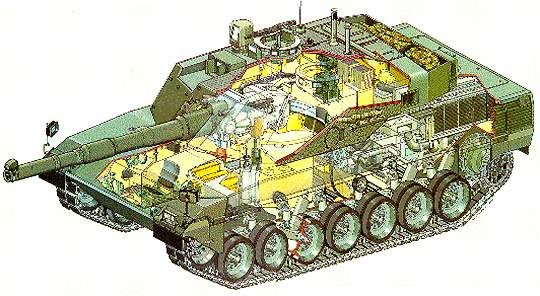 C1 Ariete Main Battle Tank Italy A 3D schematic of the C1
